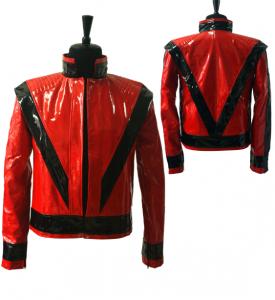 Michael Jackson Leather Jacket in Thriller Photo