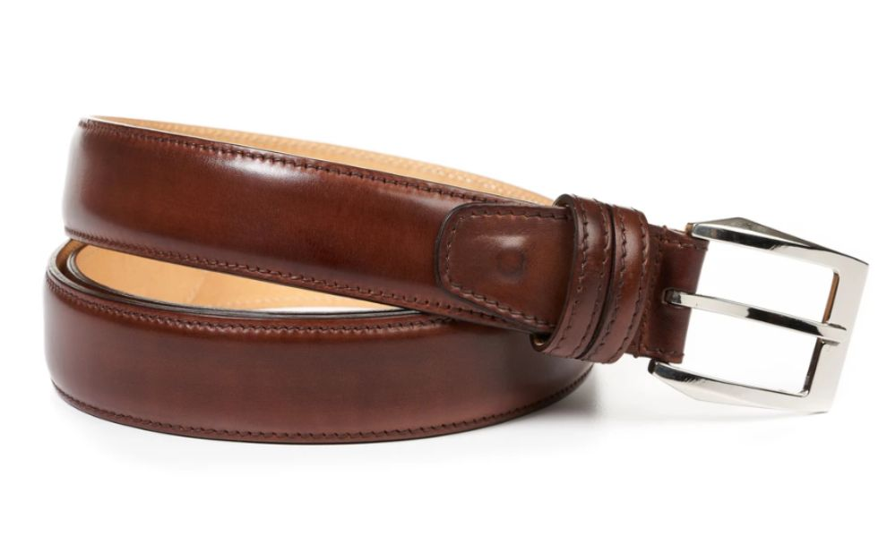 Vintage Reddish Maroon Color Genuine Leather Belt For Men