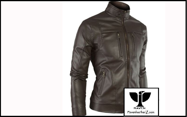 Black Classic Style Leather Jacket Winter Collection 2017