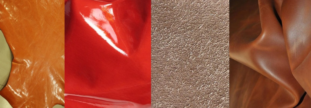 Image of Different types of finished leather