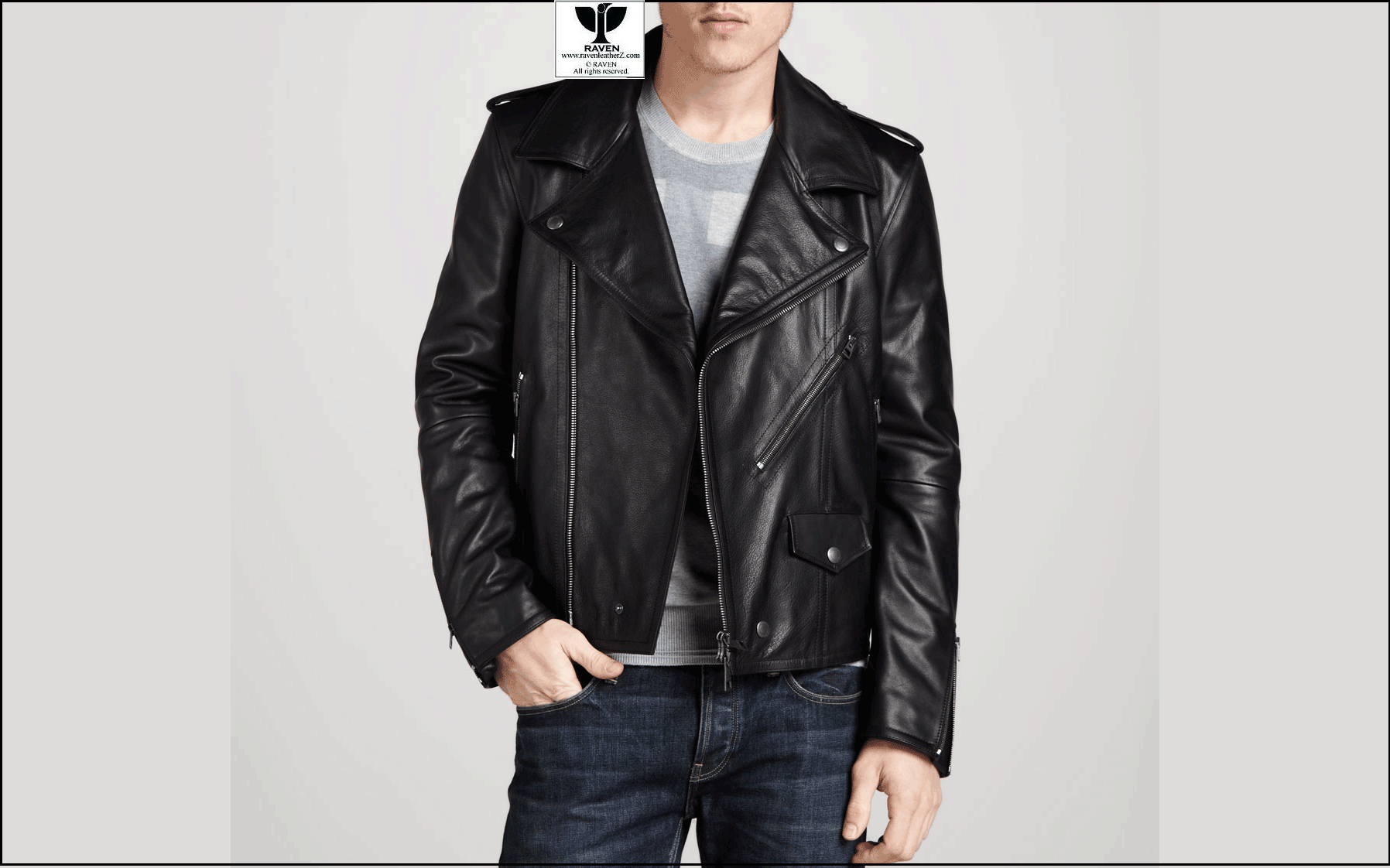 5d6d83c7f98 Black Classic Style Leather Jacket Winter Collection 2017