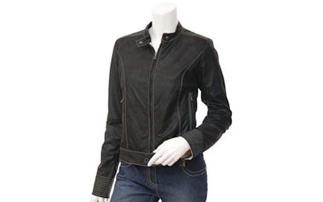 Black Ladies Leather Jacket Winter Collection 2017