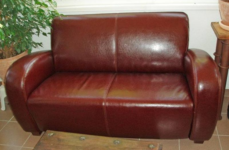Brown Color PU Leather Furniture