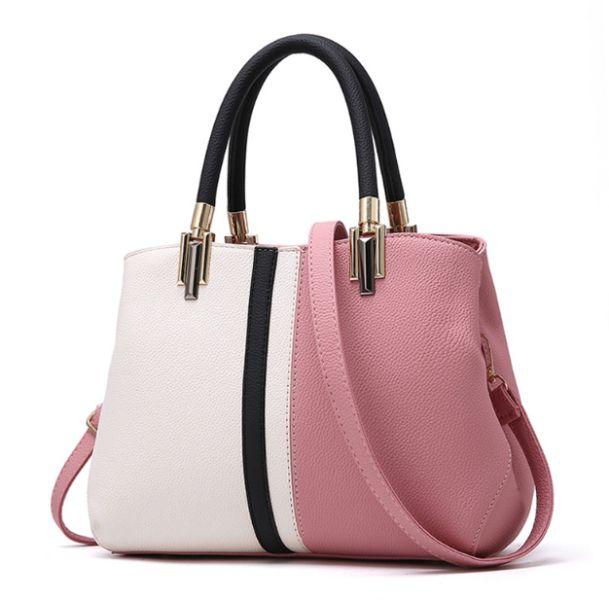 Duel Contrast PU Leather Ladies Handbag