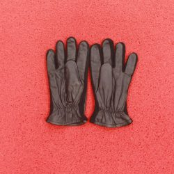 RFG:02 Men Brown Leather Full Gloves with fabric lining