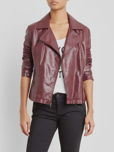 Women classic moto leather jacket by RAVEN