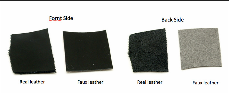 Both Sides Photo of PU Leather vs Genuine Leather