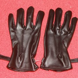 RFG:01 Men Black Leather Full Gloves with velcro