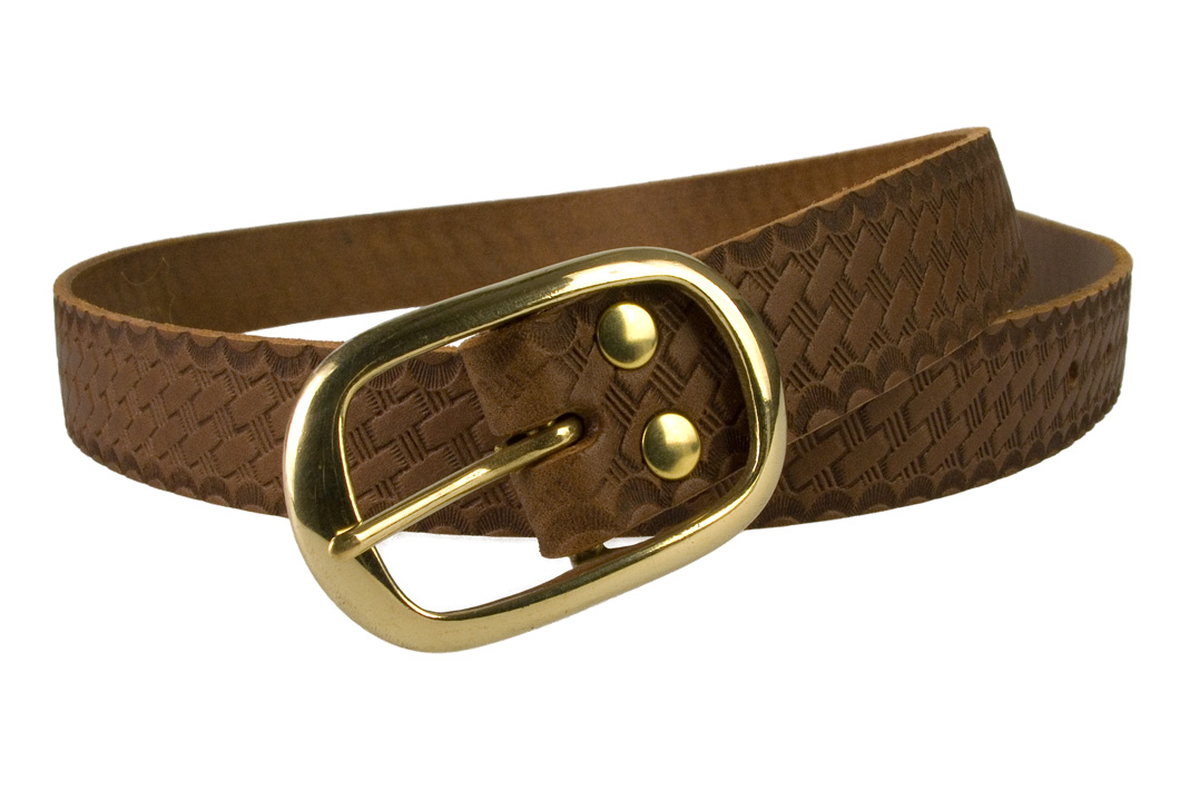Ladies-Vintage-Basket-Weave-Leather-Belt-2