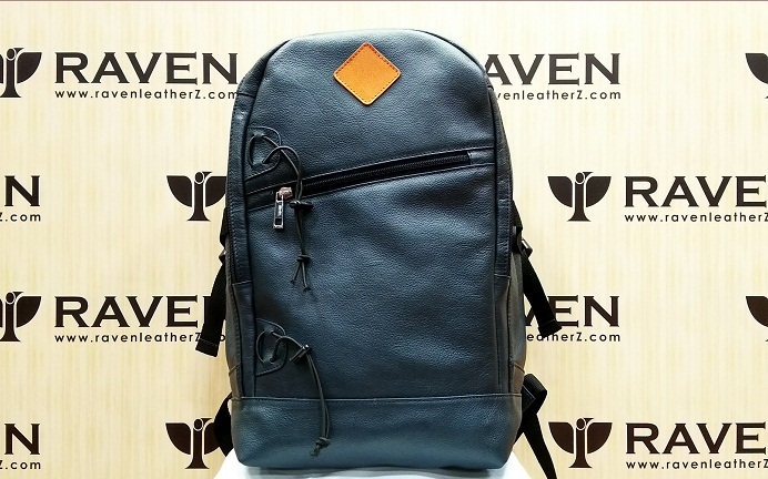 This is Leather Backpack from Dhaka Bangladesh Front View