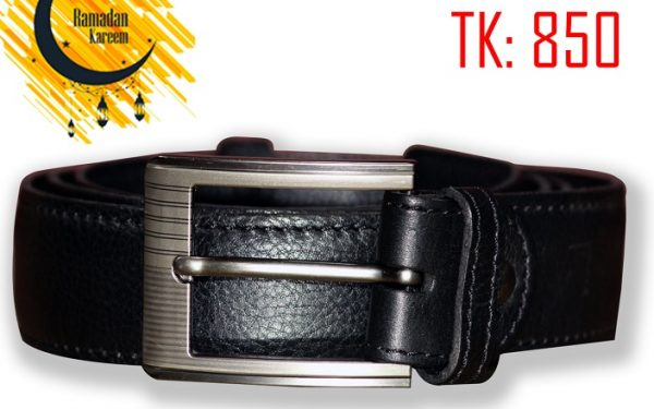 Black color original leather belt by RAVEN