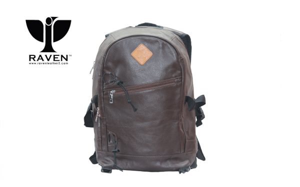 Leather backpack from Dhaka Bangladesh (front side)