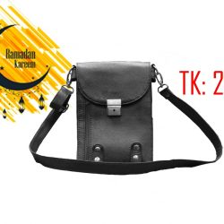 RTB:2 Black Small Leather Multipurpose Travel Bag for Men and Women