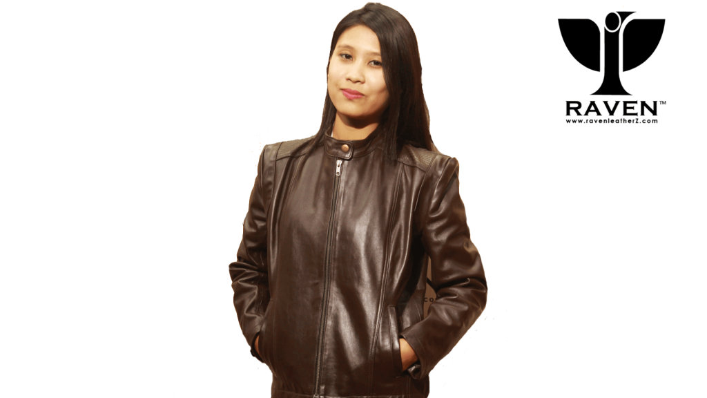 Ladies Leather Jacket Front Side in Dhaka, Bangladesh By RAVEN
