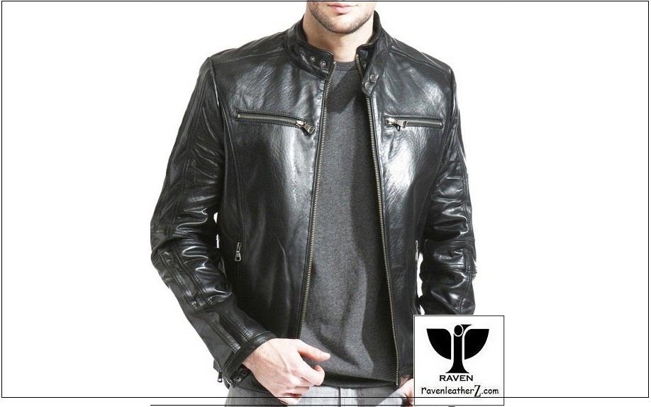 Types of Jacket in Bd: Men Genuine Leather Classic Racing Jacket
