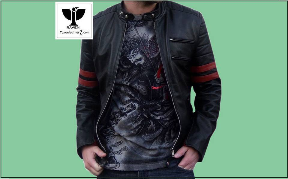 Types of Jacket in Bd: Mens Genuine Leather Stylish Motor Rider Jacket