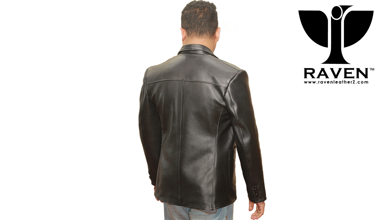 Mens Genuine Leather Jacket Backside by RAVEN Leatherz Dhaka Bangladesh