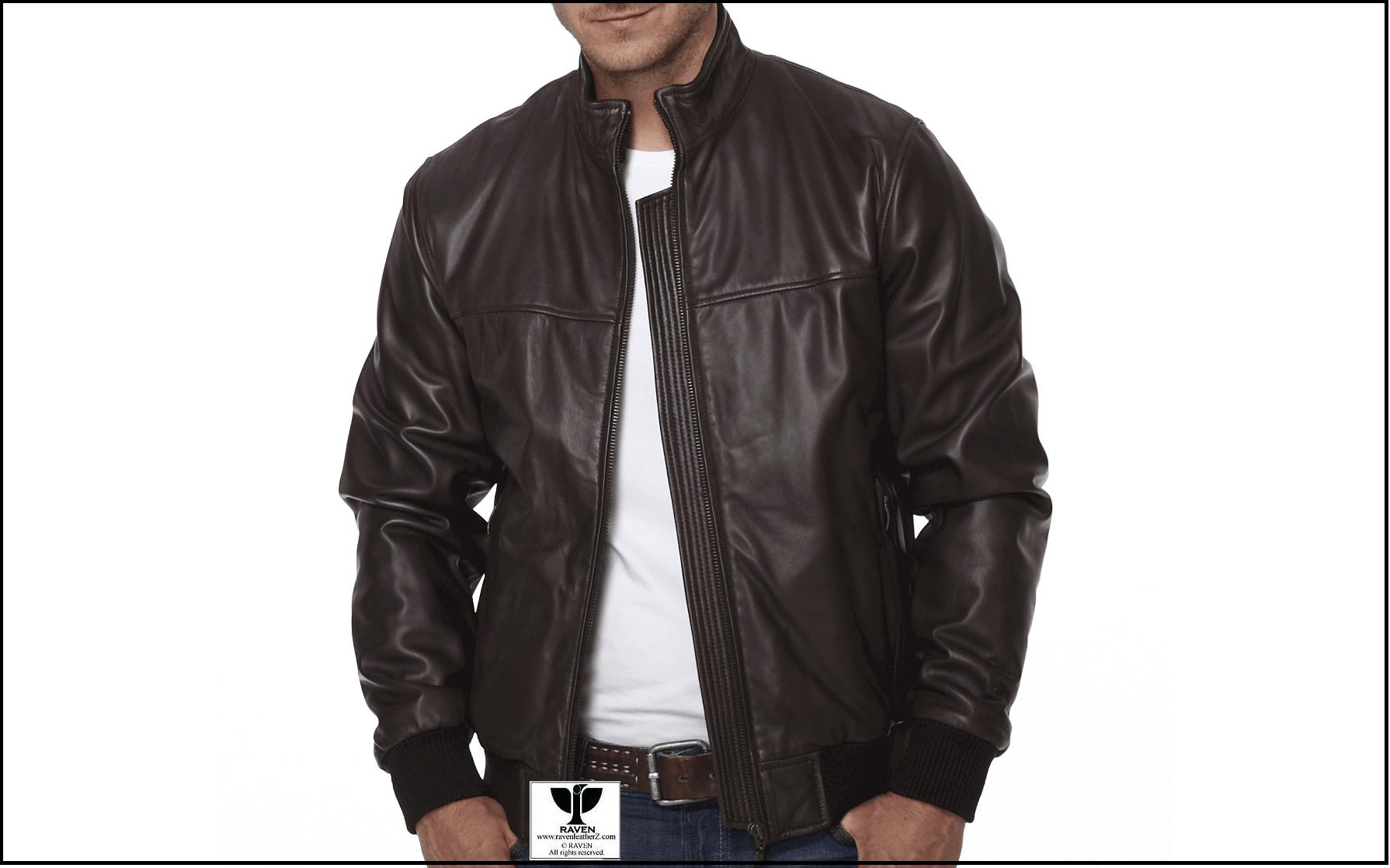 Types of Jacket in Bd: Men's Genuine Leather Bomber Jacket