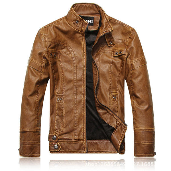 Stand Collar Motorcycle Thick Jacket