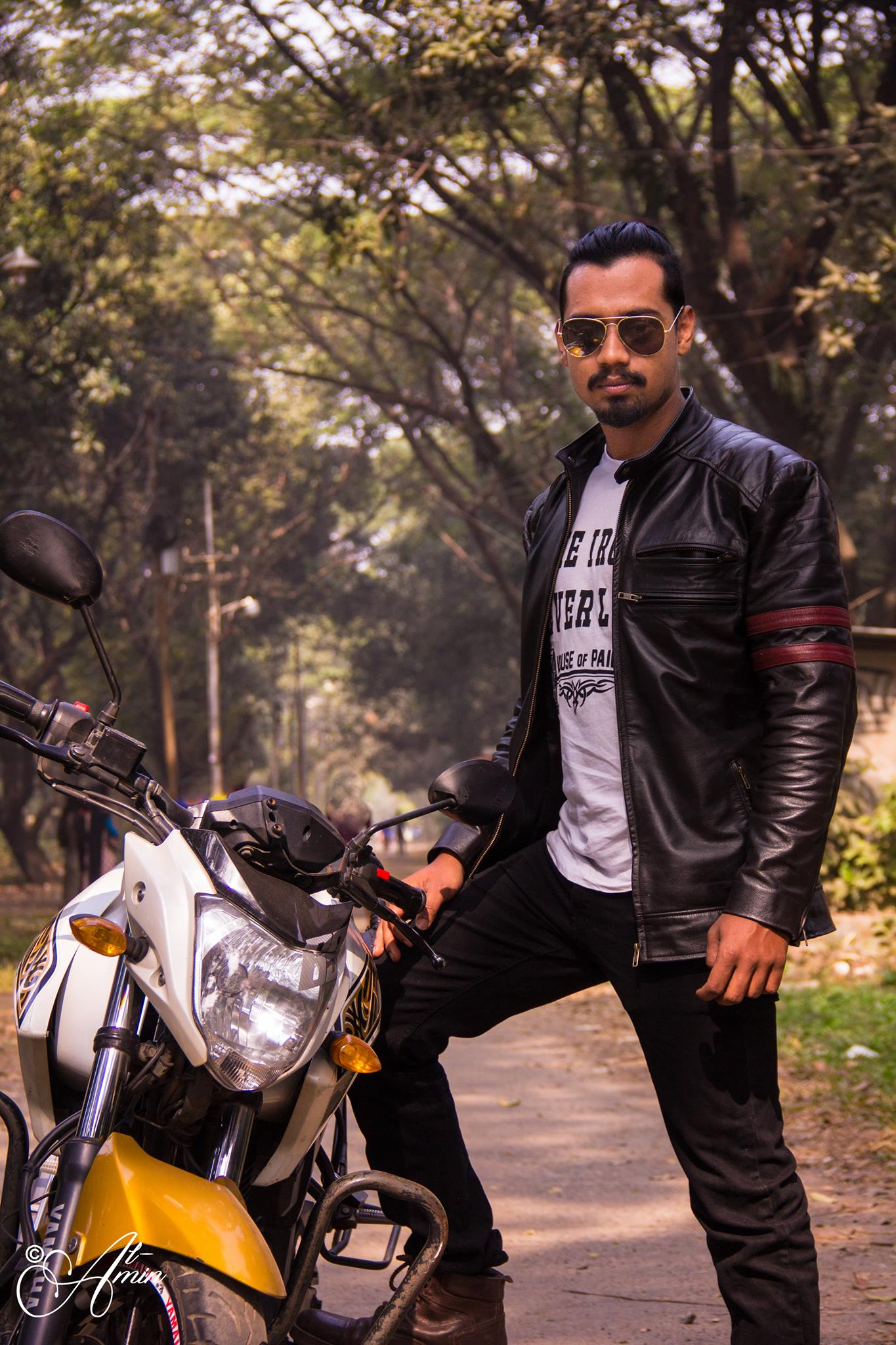 Azraf Hossen Rahat Wears a Biker Jacket RA:02 From RAVEN's Collection of Winter 2018-2019