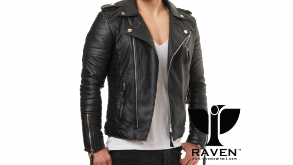 Slim Fit Hybrid Biker Jacket Front Side