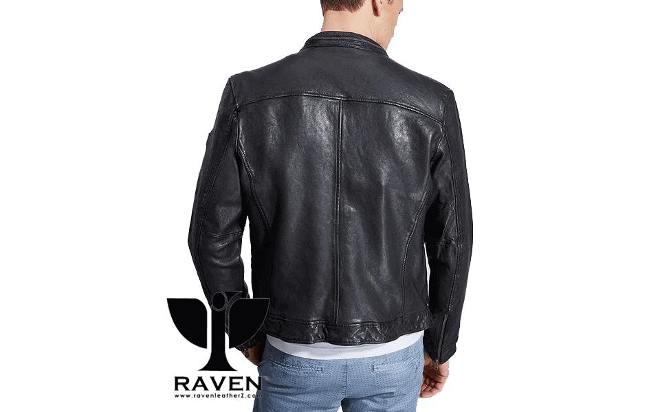 Black Hipster Style Jacket Back Side