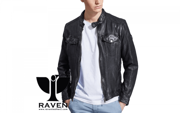 Black Hipster Style Jacket Front Side