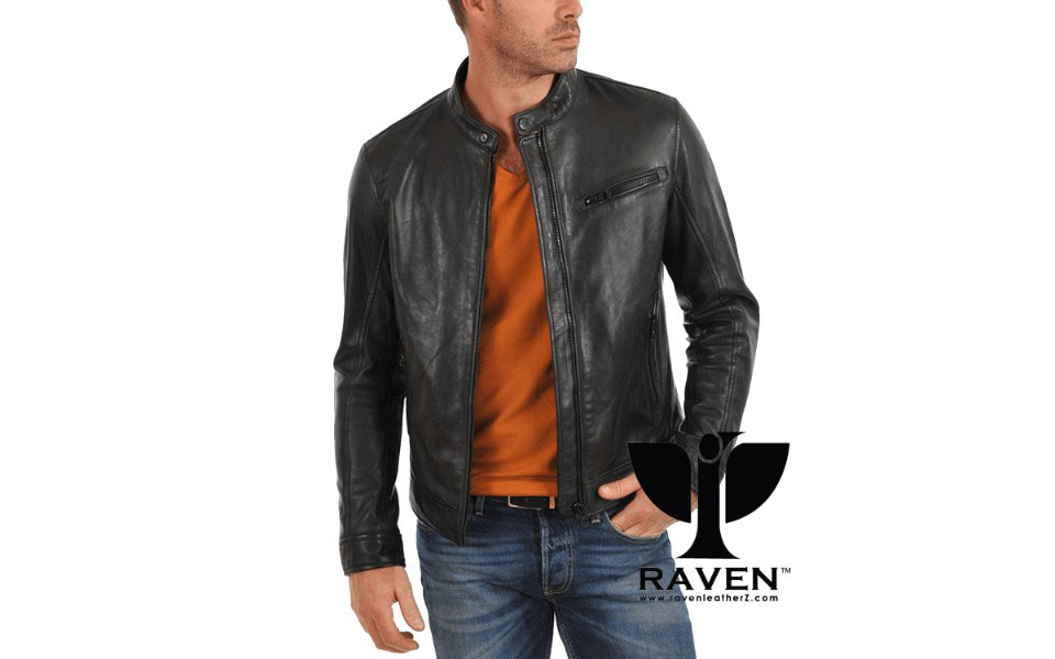 Black Slim Fit Racing Jacket Front Side