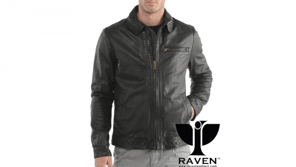 Classic Shirt Style Biker Jacket Front Side