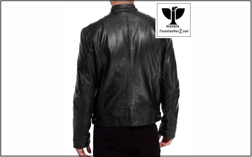 RA:20 Mens Genuine Leather Slim Fit Biker Jacket ( Winter 2018-2019 )