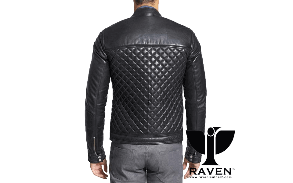 RR-04 Quilted Diamond Party Jacket Back Side