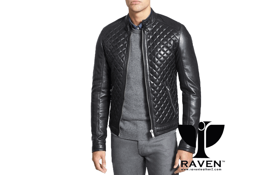 RR-04 Quilted Diamond Party Jacket Front Side