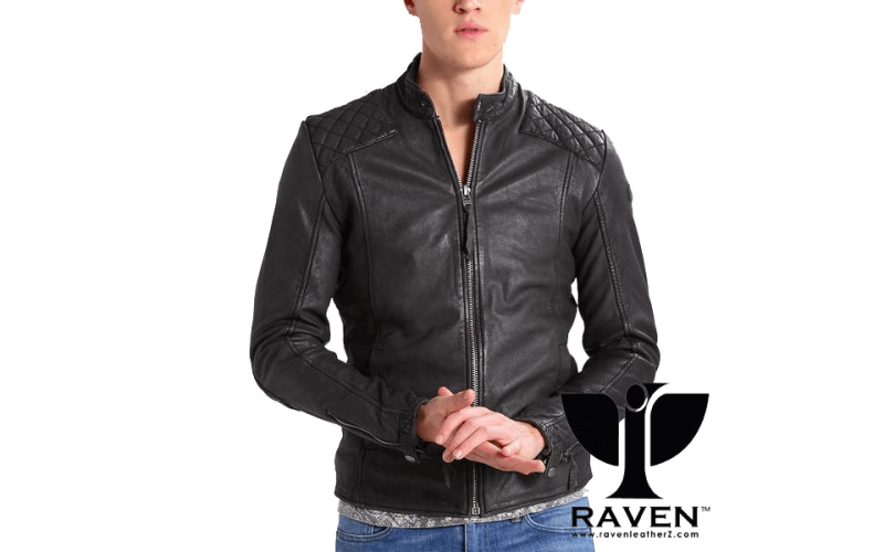 RW-04 Black Cropped Quilted Jacket Front Side