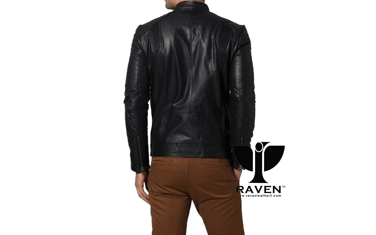Slim Fit Casual Sports Jacket Back Side