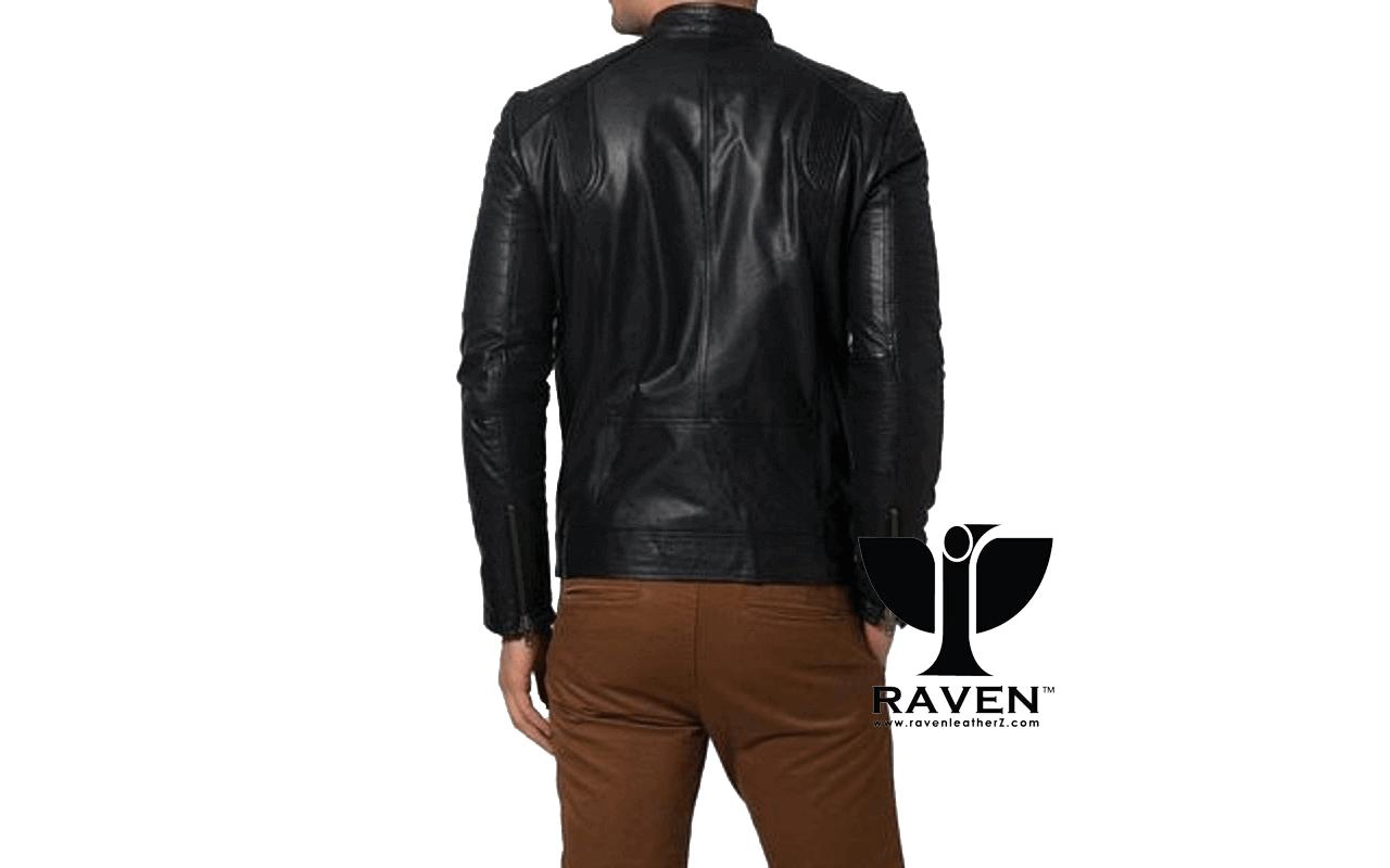 Slim Fit Casual Sports Jacket Back Side