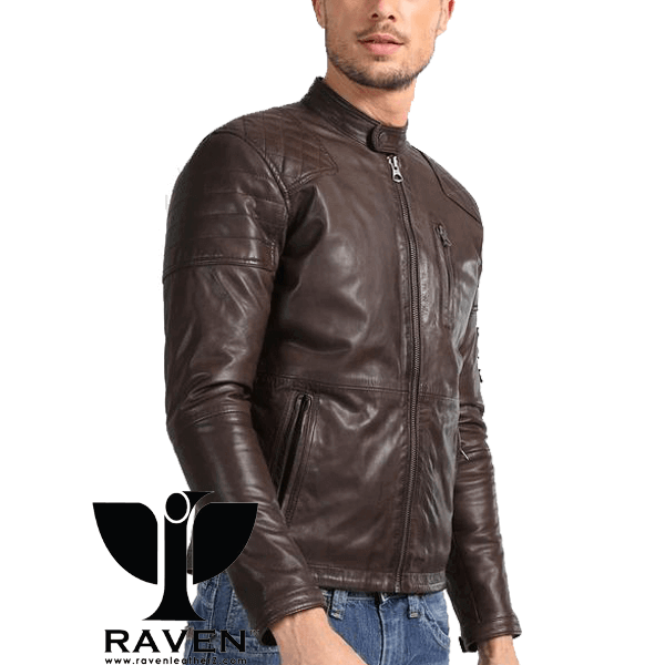 Slim Fit Cropped Racing Jacket Front Side