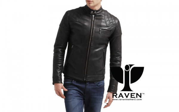 Slim Fit Quilted Racing Jacket Front Side