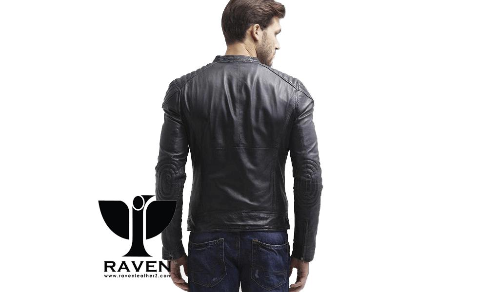 Slim Fit Quilted Shoulder Jacket Back Side