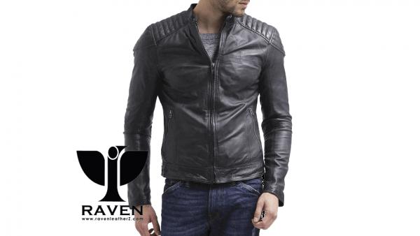 Slim Fit Quilted Shoulder Jacket Front Side