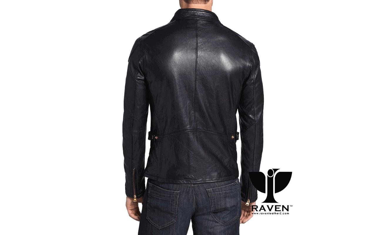 Slim Fit Retro Style Racing Jacket Back Side (1)