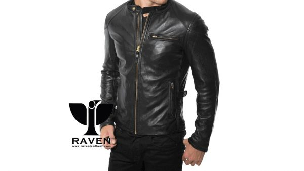 Slim Fit Retro Style Racing Jacket Front Side