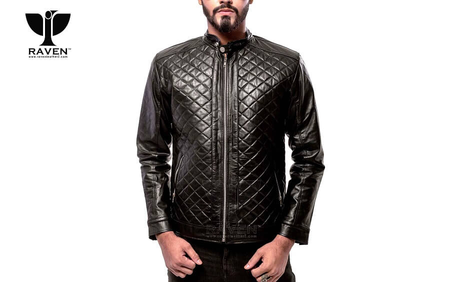 RR-04 Quilted Diamond Party Jacket For Men