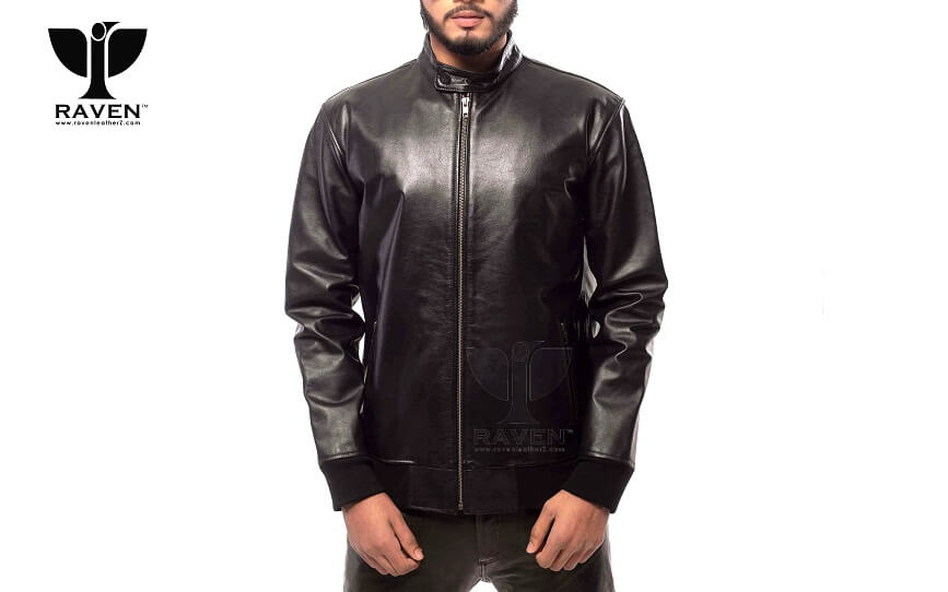 Stylish Black Bomber Jacket BRM-02 for Men