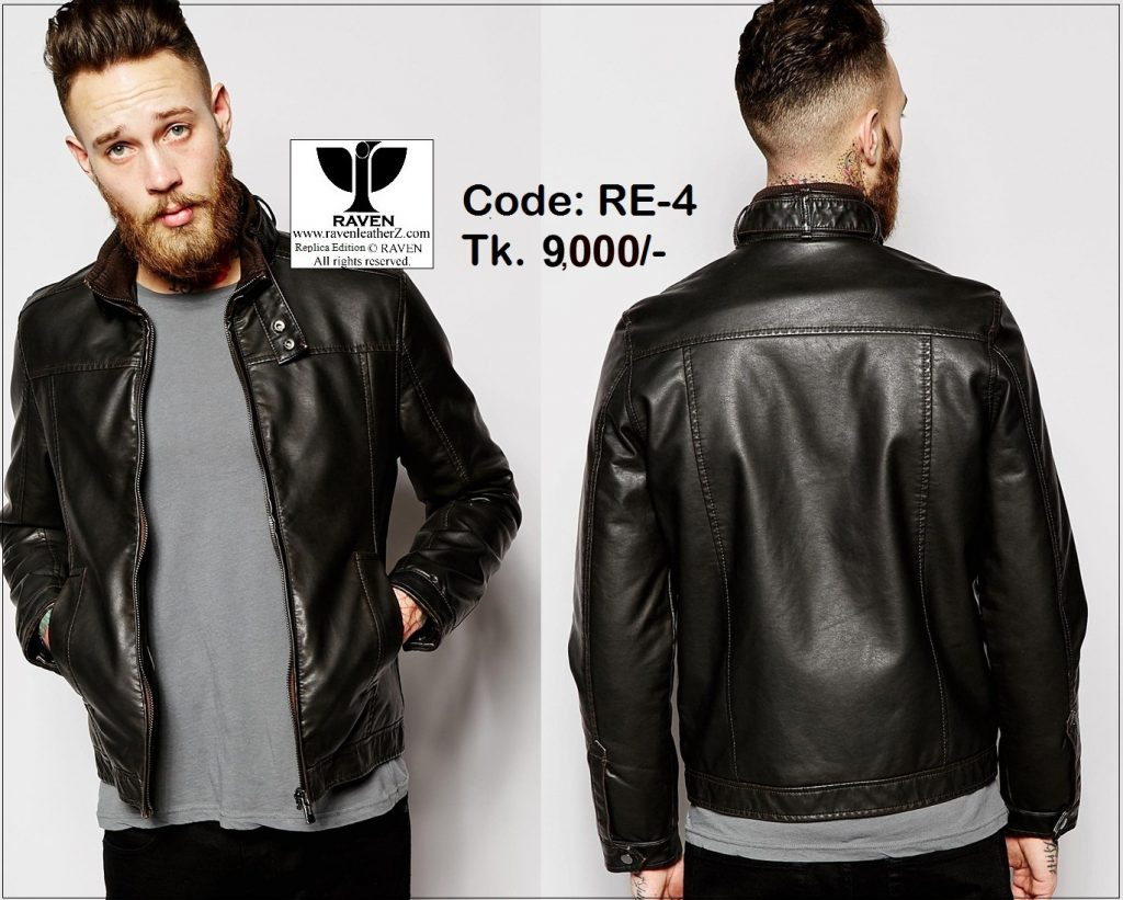 RE-04 Slim Fit Casual Leather Jacket ( Winter 2018-2019 )