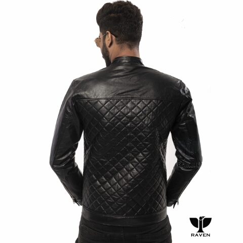 RR-04 Quilted Diamond Party Jacket Backside