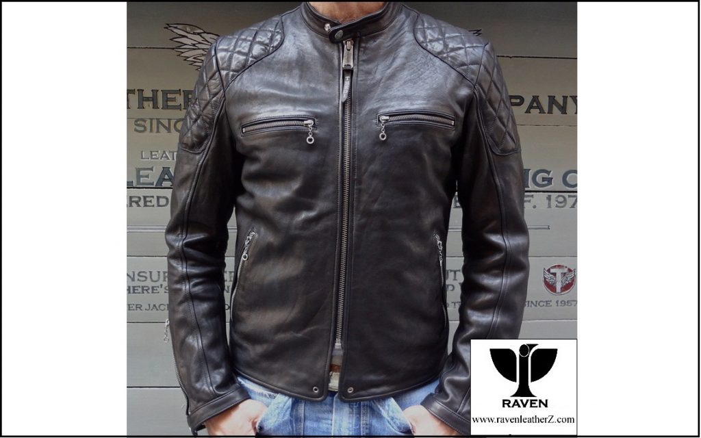 RR-08 Quilted Moto Jacket Front Side ( Winter 2018-2019 )