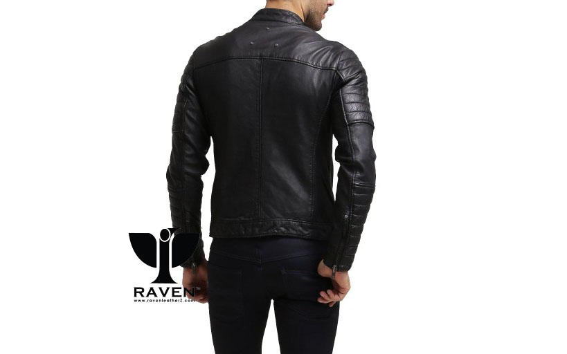 Slim Fit Quilted Moto Rider Jacket Back Side ( Winter 2018-2019 )