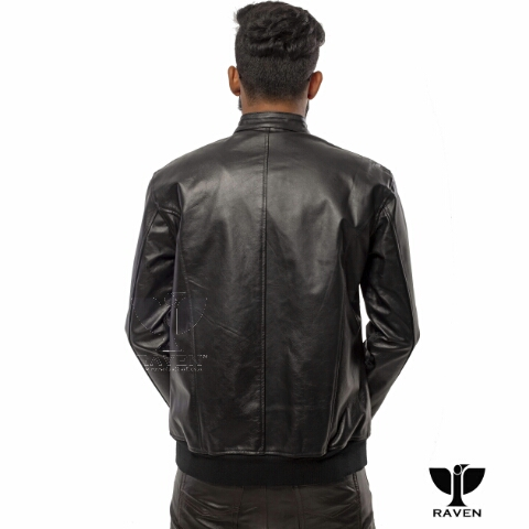 Stylish Black Bomber Jacket BRM-02