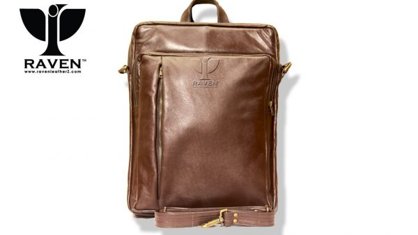 RAVEN GENUINE LEATHER BACKPACK RUB: 11