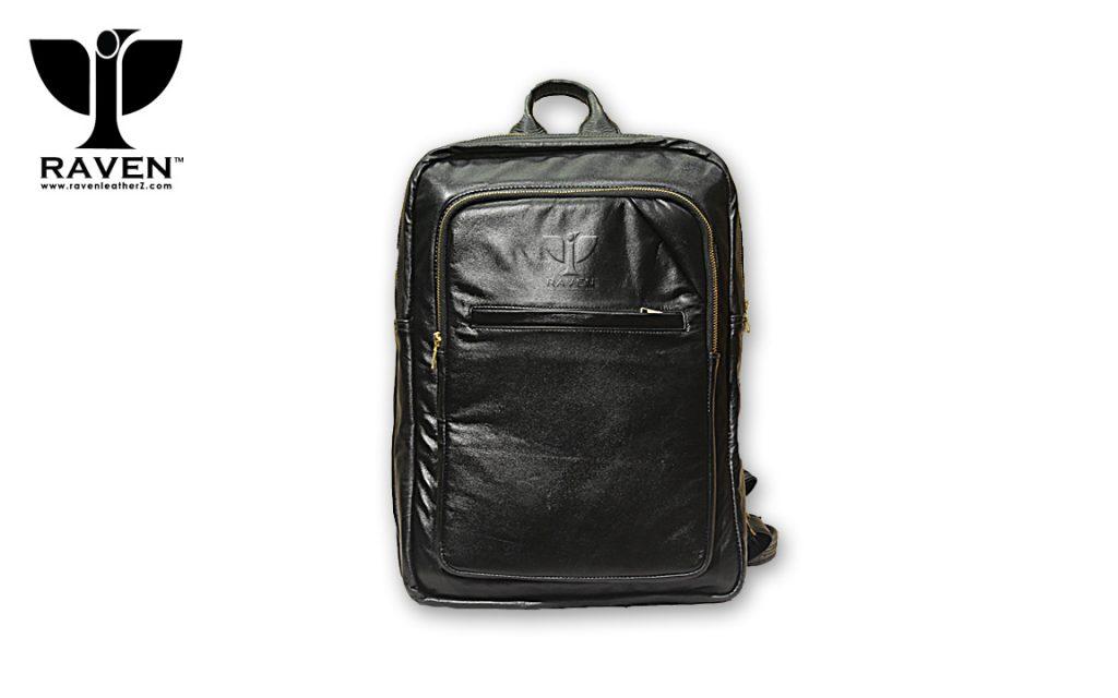 RAVEN Genuine Leather Backpack RUB06 from Dhaka Bangladesh